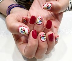 Embroidery nail design