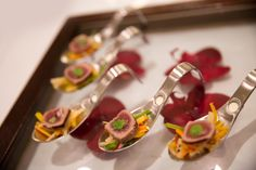 Seared Tuna Canapés with Ginger Aroma and Thai Salad #aromaspoons