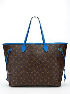 Louis Vuitton Limited Edition Monogram Ikat Grand Bleu Neverfull GM by Louis Vuitton at Gilt