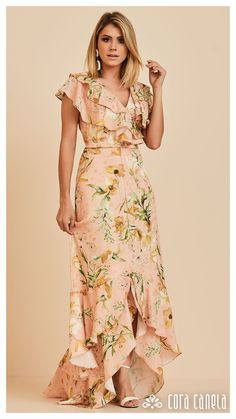 Shop the latest ASOS PETITE Premium Printed Satin Wrap Maxi Dress trends with ASOS! Free delivery and returns (Ts&Cs apply), order today! Fashion Mode, Modest Fashion, Hijab Fashion, Fashion Dresses, Dressy Dresses, Elegant Dresses, African Dress, Indian Dresses, Asos Petite