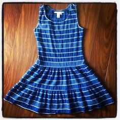 "❤️HOST PICK❤️ Blue white striped drop waist dress Gently worn for one summer, colors are still very vivid. Bust measures 17"" across, and length is 34"". Would best fit sizes 4 or 6. ⚠️Unless it is for bundles, I don't negotiate pricing through comments. Please use the ""Offer"" button if you'd like to negotiate a deal lower than the listed price. Thank you! Studio M Dresses"