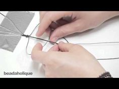 beadaholique: How to Make a Knotted Waxed Linen Wrap Bracelet (Beads on the Outside)
