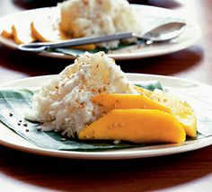 Sticky rice & mango-i love ordering coconut sticky rice in thai restaurants, but i prefer it with custard to mango.  though, they both are good.