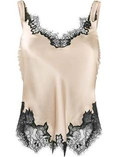 lace-trimmed slip top