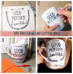 DIY Coffee Mug! Definitely pinning this and saving it for later! Make it inspiring! #DIY