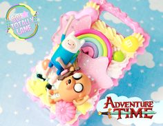 MADE TO ORDER Adventure Time iPhone/iPod/Any Phone Decoden Case. $90.00, via Etsy.