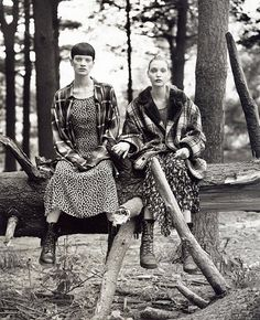 Chadwick Bell Fall 2013 Inspiration: Grunge & Glory, shot by Steven Meisel for American Vogue 1992
