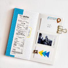 Documenting travel stories in Traveler's Notebook - Sahin Designs - Hybrid Scrapbook Inspiration