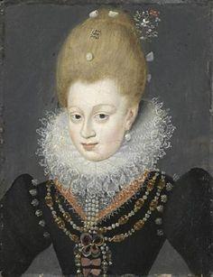Portrait de Gabrielle d'Estrées, duchesse de Beaufort et de Verneuil, marquise de Monceau, 1550 peintre inconnu