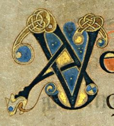 Book of Kells - initial letters A V                                                                                                                                                      More