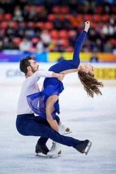 Gabriella Papadakis and Guillaume Cizeron of France compete in the Ice Dance Free Dance during day two of the ISU Grand Prix of Figure Skating at...