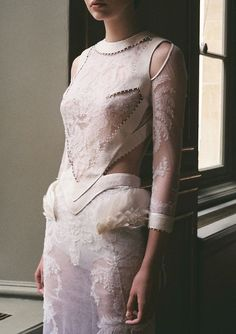 Joanna Koltuniak by Kasia Bobula, backstage at Givenchy Fall Winter 2011 Haute Couture