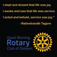 I slept and dreamt Community Service Volunteers, Water And Sanitation, Education And Literacy, Service Quotes, Rotary Club, Kids Health, Leadership, Acting, Fundraising Ideas