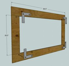 How to build a simple frame, without a miter saw