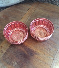 Vintage Copper Jello Molds  Set of Eight Small by WoodcockPocket
