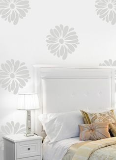 love this | wall decals - like stencils or wallpaper