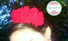 Guirnalda de claveles rojos naturales preservados