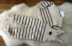 vauvan haalari neule | AIDOSTI RETRO NEULEOHJE: Vauvalle neuloen potkarit, paita ja pipo :)