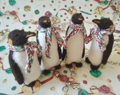 Penguin Needle Felt Ornament