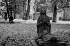 There is a place in Riga named Great Cemetery. There are burried many people who played great role in Riga's and Latvian history.  After WWII Soviets built a street across the cemetary and turned this place into a park. The park now has abandoned chapel, abandoned mortuaries, the whole place is kind of spooky.