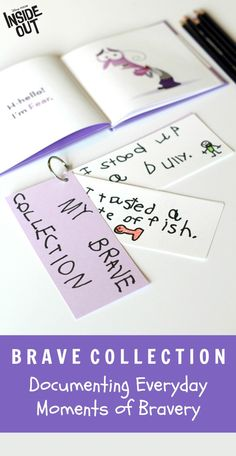 A simple way to empower kids and encourage them to celebrate brave moments. Inspired by Disney Pixar's Inside Out, add new cards to their Brave Collection each time your child conquers a fear or displays courage of any kind. A great confidence builder! Oh, and definitely grab your copy of Inside Out for more great life lessons for children, out on Disney Movies Anywhere 10/13 and Blu-ray 11/3!