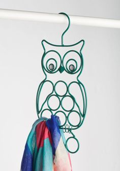 Owl Gussied Up Scarf Hanger