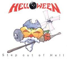 Helloween - Step Out of Hell - front Music Guitar, Art Music, Power Metal Bands, Heavy Metal Art, Metal Albums, Best Albums, Rock N Roll, Album Covers, Harley Davidson