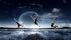 Practicing martial arts in water helps you to gain high speed jumping and power, it is also very healthy way for breathing and makes your skin smooth and shiny... Hmmm interesting....
