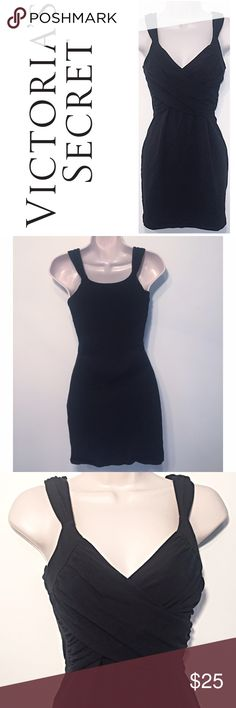 """💎 Victoria's Secret bodycon bra top black dress So sexy! Built in shelf bra. Super comfy & soft 94% cotton/6% elastane blend. Size small. Approx 32"""" long, 17"""" flat across chest, & 28"""" waist. Flawless condition- washed once but never worn. 🔴Bundle to save! 🔴NO TRADES, no modeling. 🔴REASONABLE offers welcome via offer button. Victoria's Secret Dresses Mini"""