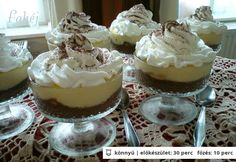 Vanilla and chocolate cream - hungarian Hungarian Cake, Hungarian Recipes, Sweet Bar, Chocolate Cream, Sweet Desserts, Creme Brulee, Nutella, Panna Cotta, Cake Recipes