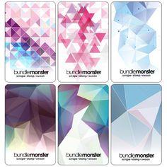 6pc Translucent 1mm Thin Nail Stamping Scraper Card Set - Geometrics