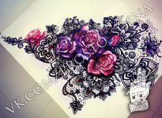 New tattoo thigh band flower 42 Ideas Girly Tattoos, Pretty Tattoos, Beautiful Tattoos, Body Art Tattoos, Sleeve Tattoos, Lace Flower Tattoos, Black Lace Tattoo, Tatoos, Rosen Tattoos