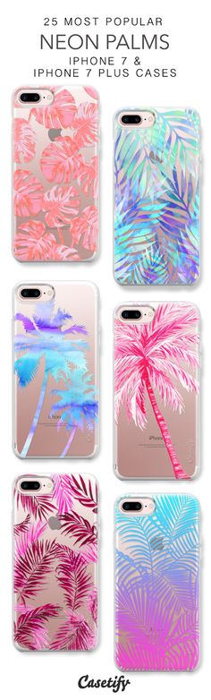 25 Most Popular Neon Palms Protective iPhone 7 Cases and iPhone 7 Plus Cases. More Plants iPhone case here > https://www.casetify.com/collections/top_100_designs#/?vc=JjLU6d2sCd