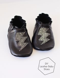 DIY Leather Baby Shoes - I can't believe these are handmade!  And she used a free pattern!