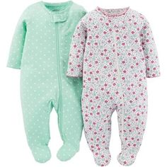 Child Of Mine Made By Carter's Newborn Baby Girl Sleep N Play, 2 Pack - Walmart.com