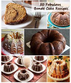 50 Bundt Cake Recipes for National Bundt Cake Day @Barbara Acosta Schieving {Barbara Bakes}