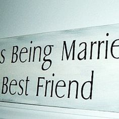 "Romantic wedding sign Romantic Bedroom Art ""Happines is being married to your best friend"" Anniversary gift wedding signs"