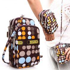 Women Bag Multifunction Portable Nylon Clutch Bags Summer Wrist Movement Outside Coin Purse  Phones Bag Crossbody Bags Handbags
