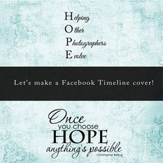 HOPE: Making a Facebook Timeline Cover using Photoshop elements
