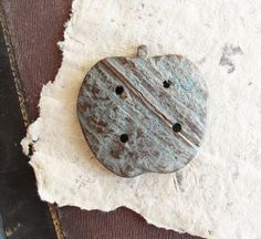Apple Button Made of Coconut wood by StarofSupplies on Etsy, $5.00