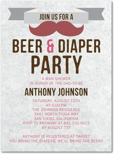 BYOD Baby Shower Beer and Diaper Baby by ItsyBitsyInvitations