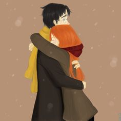 Harry and Ginny by ~taphy on deviantART