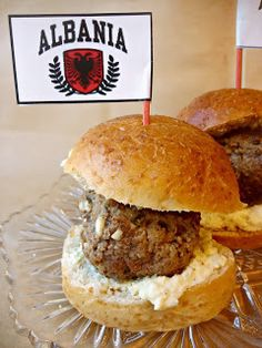 A Kitchen Hoor's Adventures: Cooking the World - Albanian Qofte (Meatball) Sliders with Feta Aioli