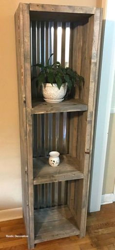 """Farmhouse Shelving with Tin Backing and a Gray Rustic Finish Bathroom Shelving, Bookcase or Living Area Shelving for Decor - rustic home decor shabby """" rustic home decor shabby The Effective Pictu - Diy Rustic Decor, Diy Home Decor, Decor Country, Decor Room, Rustic House Decor, Rustic Salon Decor, Rustic Theme, Rustic Home Design, Rustic Farmhouse Decor"""