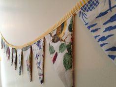 Vintage Tea Towel Bunting  Handmade Fabric Garland by MontclairMade #etsy #vintage #bunting #decoration