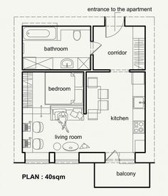 Small Apartment Floor Plans One Bedroom small one bedroom apartment floor plans - google search | gardens