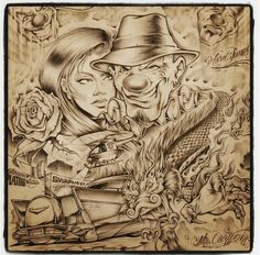 Payasa Tattoo, Clown Tattoo, Arte Cholo, Cholo Art, Chicano Art Tattoos, Chicano Drawings, Behind Ear Tattoos, Prison Art, Lowrider Art