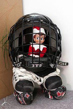Elf on the Shelf hockey, lol!
