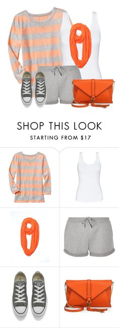 """""""Gray Shorts for Fall"""" by daiscat ❤ liked on Polyvore featuring Gap, Talula, Calvin Klein, T By Alexander Wang, Converse and Milly"""