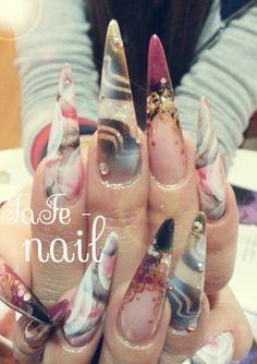『Nishiki』 Colourful Nails, Airbrush Nails, Makeup Inspiration, Nail Colors, Make Up, Makeup, Beauty Makeup, Bronzer Makeup, Nail Colour